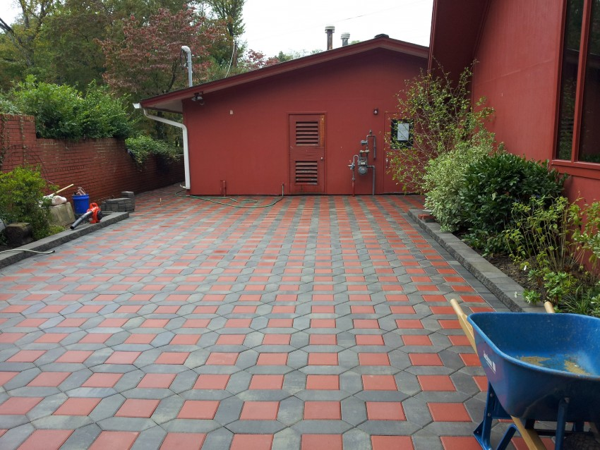 Construction of new patio