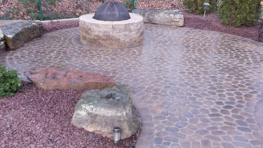 Restoration of exterior patio – fire pit